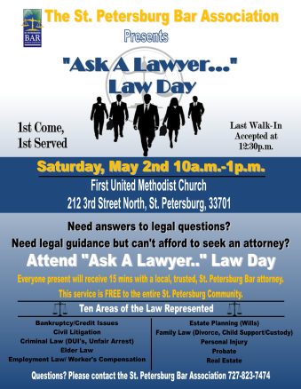 Ask a Lawyer Day Promotional Flyer